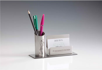 Pen visiting card holder by ajanta steel products in india 931 round pen holder card holder colourmoves Images